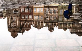 Deszczowy Stary Rynek Poznania